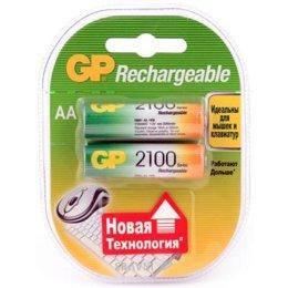 Батарейку, аккумулятор (AA/AAA/C/D) GP Batteries AA 2100mAh NiMh 2шт (210AAHC)
