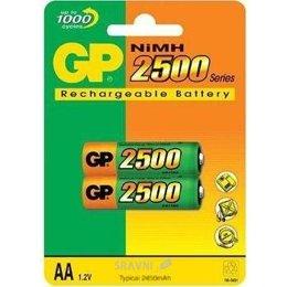 Батарейку, аккумулятор (AA/AAA/C/D) GP Batteries AA 2500mAh NiMh 2шт (250AAHC)