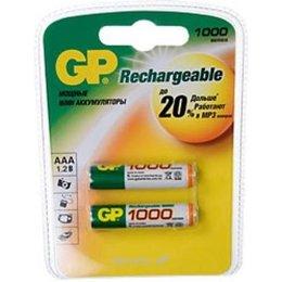 Батарейку, аккумулятор (AA/AAA/C/D) GP Batteries AAA 1000mAh NiMh 2шт (100AAAHC)