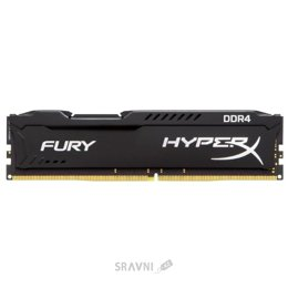 Модуль памяти для ПК и ноутбука Kingston 16GB DDR4 2400MHz HyperX Fury Black (HX424C15FB/16)