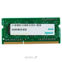 Apacer 4GB SO-DIMM DDR3 1600 MHz (DS.04G2K.KAM)