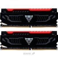 Patriot 16GB (2x8GB) DDR4 2666MHz Viper LED Red (PVLR416G266C5K)