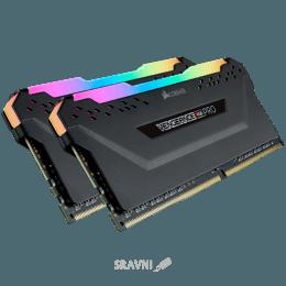Модуль памяти для ПК и ноутбука Corsair 16GB (2x8GB) DDR4 3000MHz Vengeance RGB Pro Black (CMW16GX4M2C3000C15)