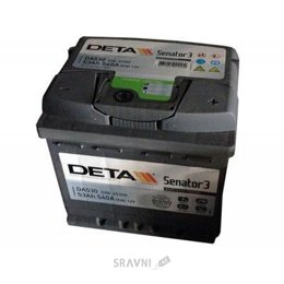 Аккумуляторную батарею DETA 6СТ-53 АзЕ Senator 3 (DA530)