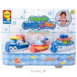 Игрушку для младенцев Alex Лодки на магнитах (823W)