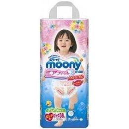 Подгузник Moony Подгузники-трусики для девочек XL 12-17 кг (38 шт.)