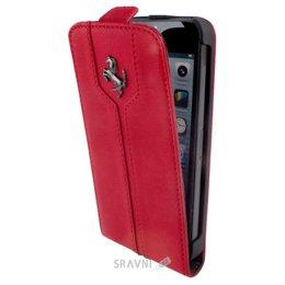 Чехол для мобильного телефона Ferrari Ferrari Montecarlo flip leather case for iPhone 5C Red (FEMTFLPMRE)
