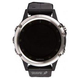 Умные часы, браслет спортивный Garmin Fenix 5 Plus Glass Silver with Black Band (010-01988-11)