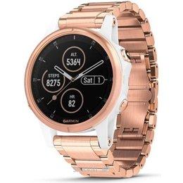 Умные часы, браслет спортивный Garmin Fenix 5S Plus Sapphire White with Rose Gold-tone Metal Band (010-01987-11)